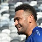 George Bower enjoys himself at Otago training at Forsyth Barr Stadium in Dunedin this week. PHOTO...