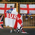 A Bury fan at the gates of Gigg Lane as the club faces expulsion. Photo: Getty Images