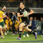Ben Smith runs the ball up for the All Blacks against the Wallabies in Perth last weekend. Photo:...