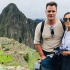 Creed Pierce pictured with his mother Diane Pearce during a trip to Machu Pichu a couple of years...