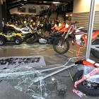 The immediate aftermath of the Sunday night ram-raid at McIver and Veitch in Dunedin, in which a ...