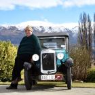 Ken Brown, of Cromwell, with his 1930 Austin 7 Chummy car, which will re-enact an epic road trip...