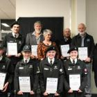 The recipients of the Malvern Community Board Community Service Awards, from left to right, back...