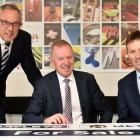 Excited about the Metro Bayleys merger are (from left) Craig Palmer, Mark Stevens and Adam Gain....