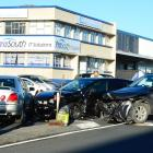 Police were called to the crash at the intersection between Timaru and Midland Sts at 4.10pm....