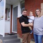 Emma and Eddie Porter with their son Otis, who has cystic fibrosis. Photo: RNZ