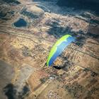 Louis Tapper flying in the open distance competition in Zarza Capilla, Spain, in July. Photo:...