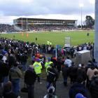 Rugby Park Stadium was sold out for the game. Photo: Peter McIntosh