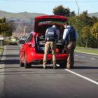 Police investigate the assault. Photo: NZME