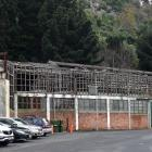 The former Sims Engineering building in Port Chalmers faces another winter without a roof. Photo:...