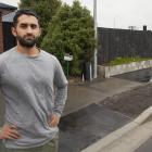 Sirwan Khalandi outside his Scruttons Rd house which he says has been damaged by roadworks. Photo...