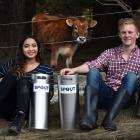 Young Dunedin entrepreneurs Jo Mohan and Luka Licul are launching their new milk dispensing...