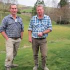 Wilden farmers Simon O'Meara (left) and Peter Adam recommend sediment traps, back fencing,...