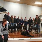 """Elle Perriam (right) encourages Jess to """"speak up'' during the Will to Live tour in Winton last..."""