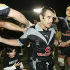Stacey Jones leaves the field with the Warriors in 2005. Photo: Getty Images