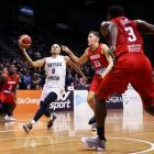Tai Webster takes the ball to the hoop against Canada for the Tall Blacks. Photo: Getty Images