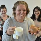University of Otago human nutrition researcher Dr Meredith Peddie, with fellow researchers and...