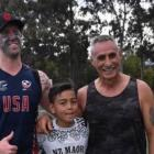 Gary Harding (left) was declined entry to a restaurant in Melbourne because of his full-faced tā...