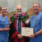 Fracture clinic registered nurse Jill Cruice (left) and enrolled nurse Ross Beaton (right) with...