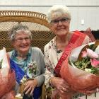 Gwen Harrex (left) has been crowned 2019 Senior Blossom Festival Queen and Rosemary Magrath is...