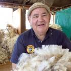 Alistair Eckhoff busy classing wool in a shed near Fruitlands last week. Photo: Sally Rae