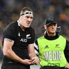Brodie Retallick left the field with a dislocated shoulder during the All Blacks' match against...