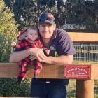 Fencing Contractors New Zealand vice-president Andy Johnson, pictured with his daughter Maeve (4...