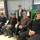Mid Canterbury Vintage Machinery Club members Colin Cross, Maurice Millar and Les Nell, with John...