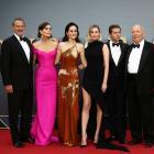 Actors Hugh Bonneville, Elizabeth McGovern, Michelle Dockery, Laura Carmichael, Allen Leech and...