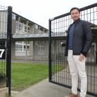M & Q Trading Ltd director Andrew Yu at the former Invercargill South School site last week....