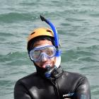 Duncan Campbell is among a team of snorkellers being employed to collect golf balls from the...
