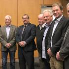 Southland District Council and mayoral candidates (from left) Rob Scott, John Douglas, Ebel...