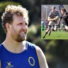 Otago lock Josh Dickson will play his 50th game for Otago tonight. Inset: Dickson playing for...