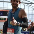 Marwane El kamraoui after the Dunedin Marathon yesterday. PHOTO: WAYNE PARSONS