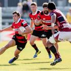 Josh McKay leads the Mitre 10 Cup with six tries and 433 metres carried with the ball. Photo:...