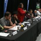Dunedin mayoral candidates making their pitch at yesterday's Dunedin Mayoral Forum are (left to...