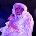 Drag queen Kola Gin performs during the Propaganda White dance party on Saturday night. PHOTO:...