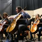 Joshua Frear, principal player in the Dunedin Symphony Orchestra's cello section, performs at the...