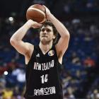 Rob Loe of the Tall Blacks sets up a shot at the FIBA World Cup 2019. Photo: Getty Images