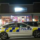 Police on the scene of the incident outside House of Spice in Rotorua. Photo: NZME