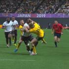 Reece Hodge's citing for a dangerous tackle on Fijian forward Peceli Yato during Australia's...
