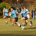 Siua Maile runs the ball up for his Shirley club in Christchurch Photo: Shirley RFC / Rachel...