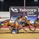 Spankem, pictured beating defending New Zealand Cup champion The Fixer in the Miracle Mile, will...