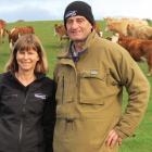 Steph and Warren Burgess, of Beresford Simmental Stud, Puketiro, run both Simmentals and Murray...