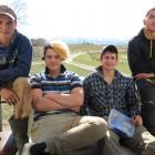 Maniototo Area School pupils (from left) Damian (Damo) Carson (16), Dante Devitt (Stringer, 16),...