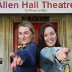 University of Otago theatre studies students Haley Vuleta (left, 19), of Wanaka, and Nicole...