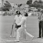 Hart national chairman Trevor Richards (left) and Otago bowler Murray Webb at the Hart-organised...