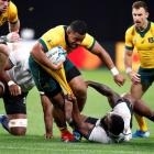 Scott Sio in action for the Wallabies against Fiji during their World Cup match last month. Photo...