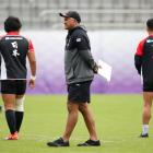 Japan head coach Jamie Joseph at a recent team training session in Tokyo. Photo: Reuters