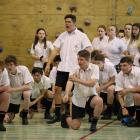 Mr Saxon is greeted with a haka.